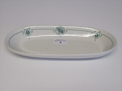 Lot 2-Admiral Line P.S.S. Co: An oval plate