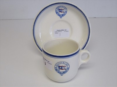 Lot 3-Baron Line: A cup and saucer