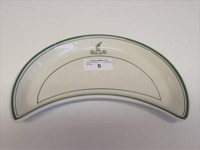 Lot 5-Bibby Line: A crescent vegetable side plate