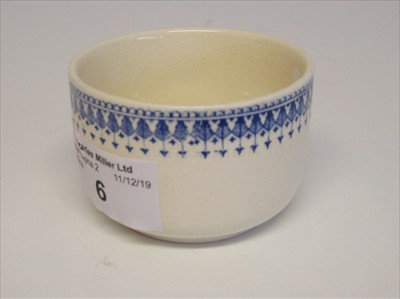 Lot 6-Blue Funnel Line: A slop bowl