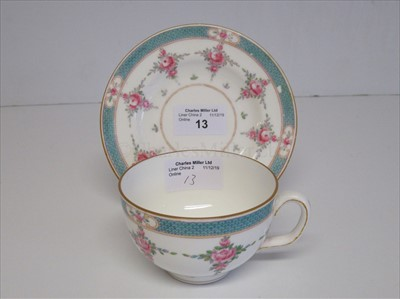 Lot 13-Blue Star Line: A cup and saucer