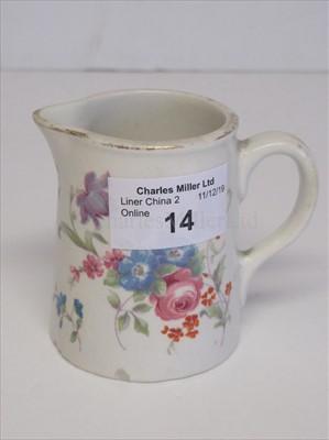 Lot 14-Blue Star Line: A milk jug