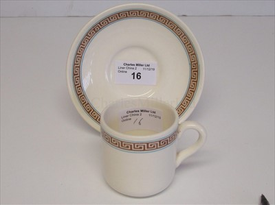 Lot 16-British & Commonwealth Line: A cup and saucer