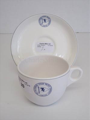 Lot 20-Caledonian Steam Packet Company Ltd: A cup and saucer
