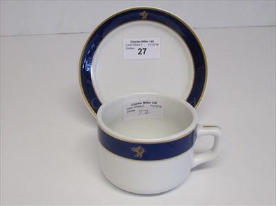 Lot 27-Cunard: an associated cup and saucer