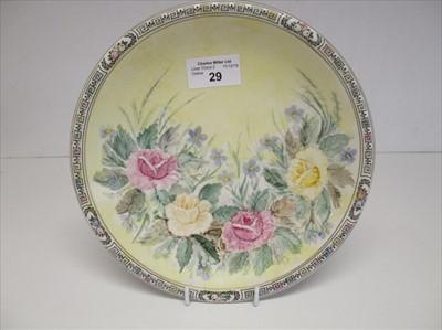 Lot 29-Cunard: a floral plate