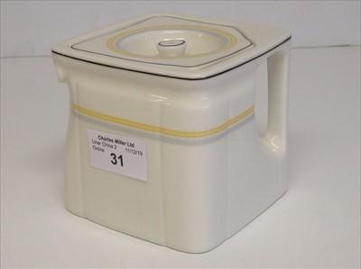 Lot 31-Cunard: a cube tea pot