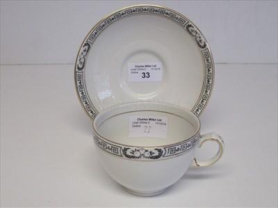 Lot 33-Cunard: a tea cup and saucer