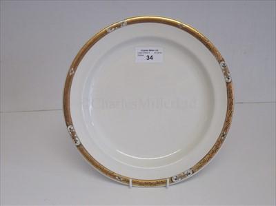 Lot 34-Cunard: a side plate