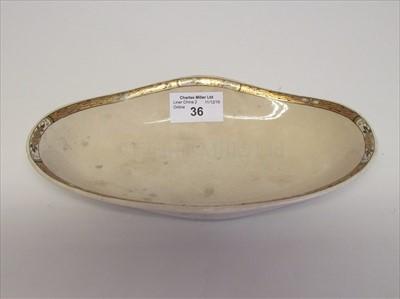 Lot 36-Cunard White Star Line: an oval plate