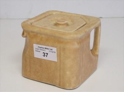 Lot 37-Cunard White Star Line: a cube tea pot