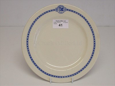 Lot 41-Eastern Steamship Lines Inc: a side plate
