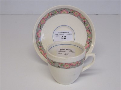 Lot 42-Elder Dempster Lines: a coffee cup and saucer
