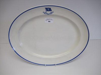 Lot 44-Furness Line: an oval vegetable platter
