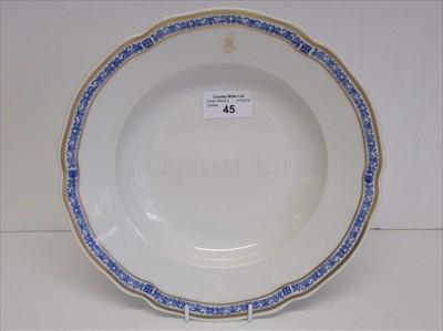 Lot 45-Hamburg America Line: a soup plate