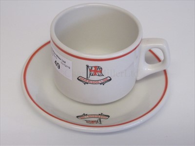 Lot 49-Harrison Line: a coffee cup and sauce
