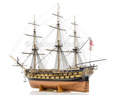 Lot 48-A FINELY DETAILED 1:48 SCALE MODEL OF THE 54-GUN PORTLAND CLASS FRIGATE LEOPARD, SHEERNESS, 1790