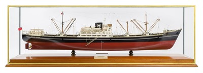 Lot 32-A BOARDROOM MODEL FOR THE M.V. TREWIDDEN, BUILT BY READHEAD & SONS, SOUTH SHIELDS FOR HAIN STEAMSHIP COMPANY, 1960