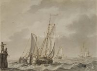 Lot 5-CIRCLE OF Ludolf Backhuysen II (Dutch,...