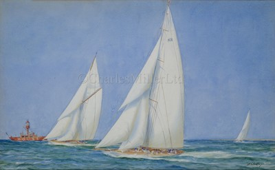Lot 4-ARTHUR CHIDLEY (BRITISH, EARLY 20TH CENTURY): The Camper & Nicholson sailing yacht 'Candida', circa 1930