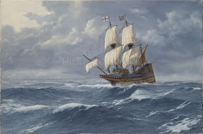Lot 46-δ KENNETH JEPSON (BRITISH, 1932-1998): Mayflower; Bounty