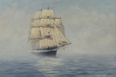 Lot 14-δ KENNETH JEPSON (BRITISH, 1932-1998): The Blackwall Frigate 'Renown'; The American Black Ball Line Packet 'Yorkshire'