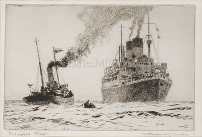 Lot 26-δ NORMAN WILKINSON (BRITISH, 1878-1971): The London Pilot