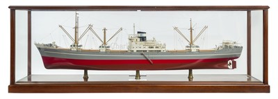 Lot 33-A FINE BOARDROOM MODEL FOR THE M.V. 'EUGENIE S.E.' BUILT BY HOWALDTSWERKE HAMBURG FOR LOS SANTOS CIA NAVIERA, PANAMA, 1957