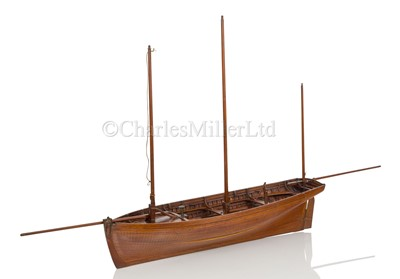 Lot 11-AN HISTORICALLY INTERESTING MODEL OF THE RAMSGATE HOVELLERS' LUGGER PRINCE OF WALES, BUILT BY H. TWYMAN AND DISPLAYED AT THE GREAT EXHIBITION, LONDON, 1851