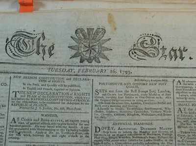 Lot 47-THE STAR: ACCOUNTS OF CAPTAIN BLIGH, 1793