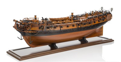 Lot 41-A VERY FINE 1:36 SCALE ADMIRALTY BOARD STYLE MODEL FOR THE SIXTH RATE 28 GUNS SHIP ENTERPRISE [1774]