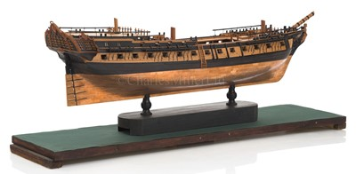 Lot 43-A FINELY BUILT AND  CARVED 1:72 SCALE NAVY BOARD STYLE OF 44-GUN SWEDISH HEAVY FRIGATE VENUS [1783]