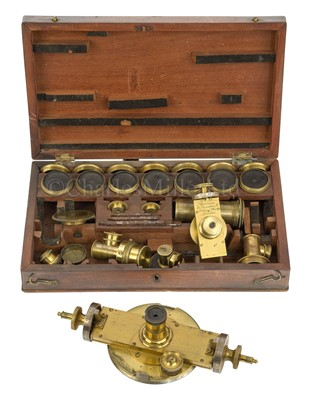 Lot 281 - A CASED SET OF OPTICAL ACCESSORIES BY ROBINSON, LONDON, CIRCA 1840