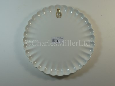 Lot 2-An Admiralty scalloped side plate