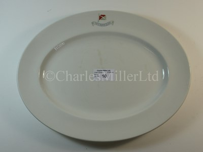 Lot 10-A Bank Line oval plate