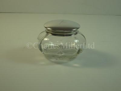 Lot 10 - A Blue Funnel Line silver lidded glass jar, from T.S.S. 'Nestor'