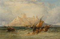 Lot 36-James WEBB (BRITISH, c.1825-1895)<br/>Shipping off...