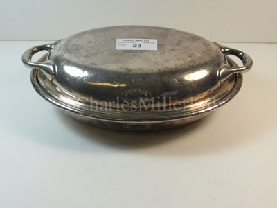 Lot 23-A British India Steam Navigation Company plated tureen and cover