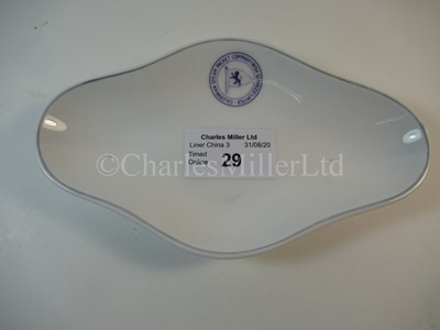 Lot 29-A Caledonian Steam Packet Company Irish Services Ltd oval dish