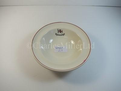 Lot 21 - A Charente Steam Ship Company soup bowl