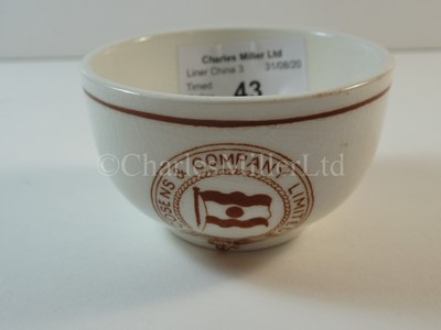Lot 43-A Cosens & Company Limited slop bowl