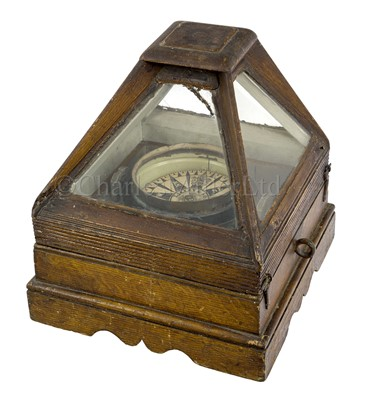 Lot 4-A DRY CARD BINNACLE COMPASS CIRCA 1860