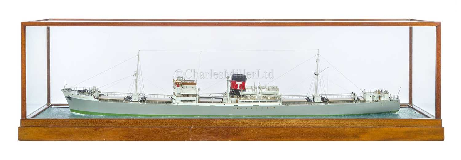 Lot 80 - A FINE WATERLINE MODEL FOR THE S.S LORD GLANELY BY BASSETT-LOWKE LTD, BUILT FOR THE ATLANTIC SHIPPING & TRADING COMPANY BY WILLIAM PICKERSGILL LTD, 1947