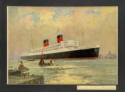Lot 92 - A LLOYD'S REGISTER OF SHIPPING REPORT OF R.M.S. MAURETANIA II, 1939 and other ephemera