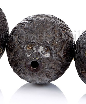 Lot 33-A 19TH CENTURY CARVED COCONUT BUGBEAR