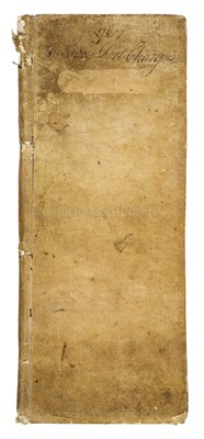 Lot 7-AN 18TH CENTURY PORT CHARGE BOOK FOR MADEIRA