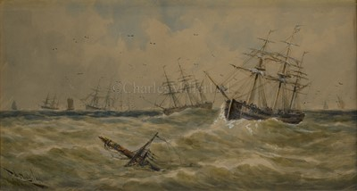 Lot 5-THOMAS BUSH HARDY (BRITISH, 1842–1897): The Mouth of the Medway