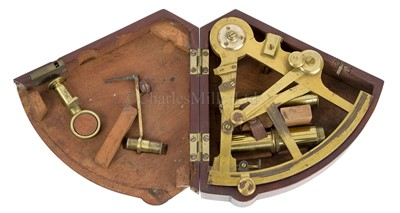 Lot 227 - A RARE AND HISTORICALLY INTERESTING 4IN. RADIUS POCKET SURVEYING SEXTANT BY JESSE RAMSDEN, LONDON, CIRCA 1794