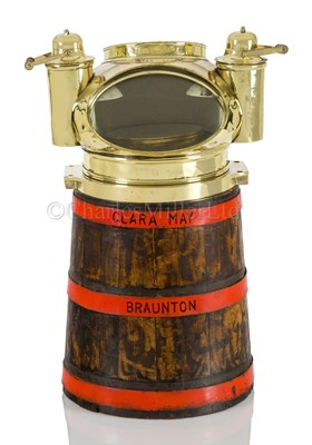 Lot 15-A DRY CARD BINNACLE COMPASS FROM THE KETCH CLARA MAY OF BRAUNTON, CIRCA 1891