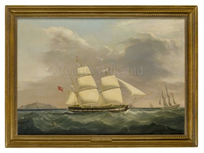 Lot 6-JOSEPH HEARD (BRITISH, 1799-1859): The barque Isabelle in two positions off the South Stack, Holyhead